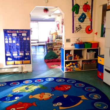 A view of our preschool room.