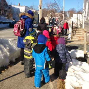 Our preschoolers on their morning outing.